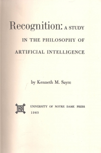 Recognition: a study in the philosophy of artifical intelligence (бук.) ― Архе